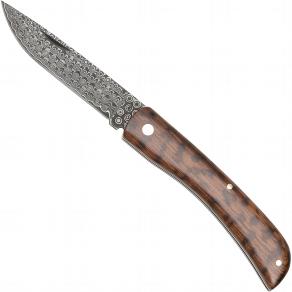 Damast-Taschenmesser Schlangenholzgriff