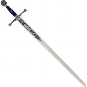 Schwert Excalibur silber/blau