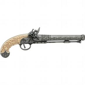 Deko Pistole mit weißem Griff