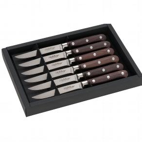 Steakmesser 6-er Set Griff Paosantos Holz