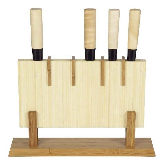 Holzständer für japanische Kochmesser aus Bambus