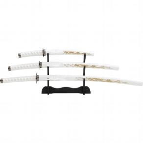 Samuraigarnitur Whithe Dragon 4 tlg.